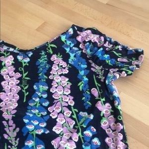 Tops - Lily Pulitzer Blue and Pink Floral T shirt Small.